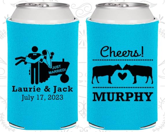 Wedding Favor Koozies Cheap Beer Can Koozie Ideas 555 Cheers Farm Country
