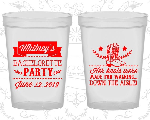Personalized Bachelorette Party Cups