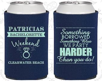 Bachelorette Weekend Favors, Bachelorette Decor, Something Borrowed, Something Blue, Bachelorette Favors (60130)