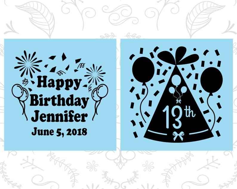 Happy Birthday 20116 Confetti Birthday Birthday Tall Shot Glasses 13th Birthday Shooter Glasses