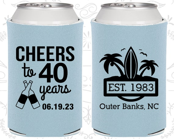 40th Birthday Favors Personalized Ideas Cheers To 40 Years Beach Tropical 20226