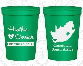 South Africa Wedding Cups, South Africa Wedding, Cheap Beer Cups, Destination Wedding, Wedding Cups, Capetown Cups (191)