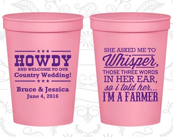 She Asked me to Whisper, so I told her I am a farmer, Personalized Beer Cups, Country Cups, Farm Cups, Wedding Cups (545)