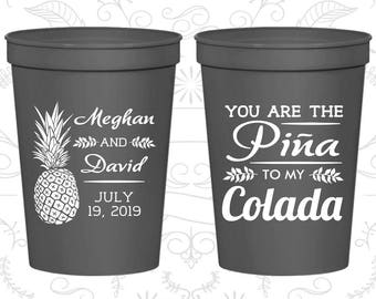 Charcoal Stadium Cups, Charcoal Cups, Charcoal Party Cups, Charcoal Wedding Cups (464)