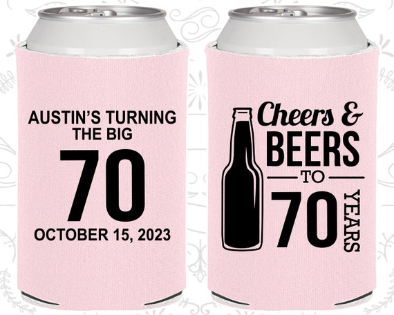 70th Birthday Favors Adult Party Decorations Cheers And Beers To 70 Years 20161
