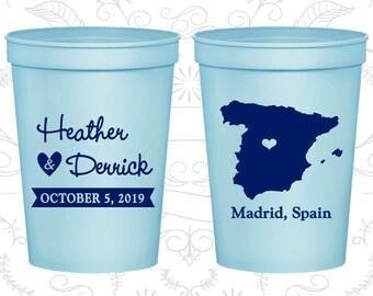 Spain Wedding Cups, Spain Wedding, Custom Beer Cups, Destination Wedding, Wedding Cups, Madrid Cups (192)