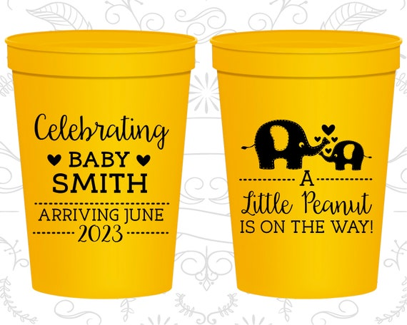 Elephant Party Cups- Elephant Baby Shower Cups Baby Shower Supplies Little Peanut Baby Shower Elephant Baby Shower