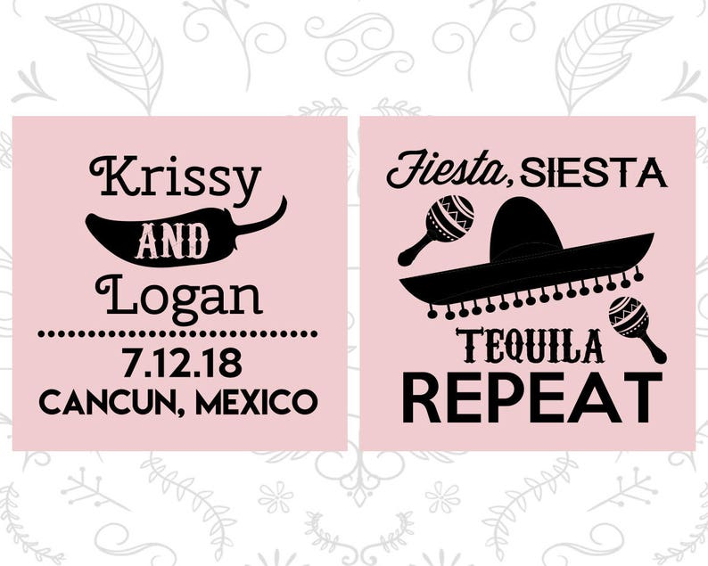 444 Tequila Repeat Frosted Shot Glasses Imprinted Frosted Glass Mexican Party Fiesta Siesta Fiesta Wedding