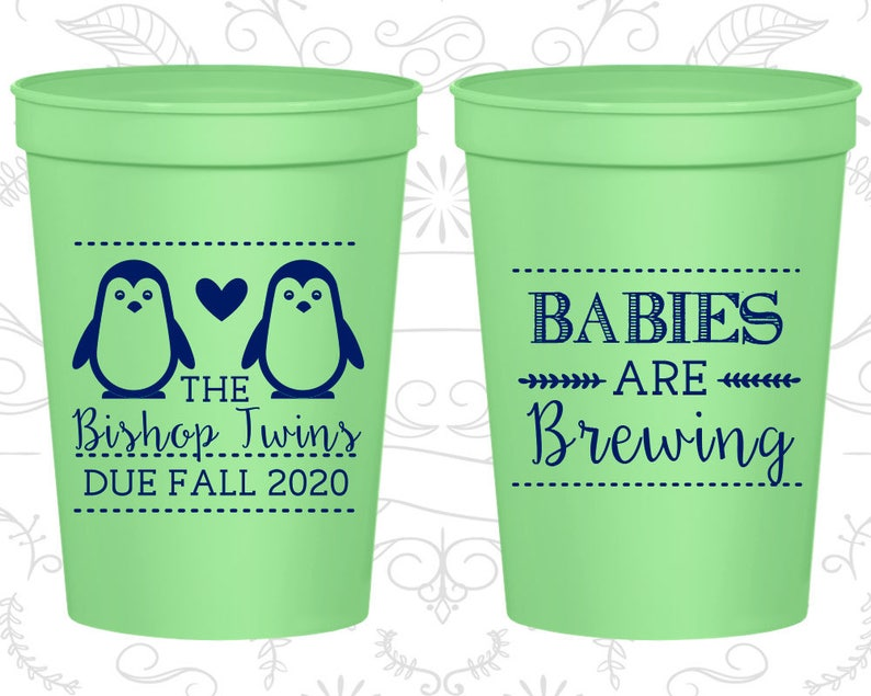 8038c488253 Baby Shower Favors Personalized Baby Shower Stadium Cups   Etsy