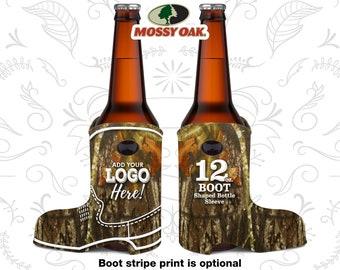 Mossy Oak ® Boot Shaped Sleeve, Camo Boot Sleeve, Mossy Oak ® Camo Wedding Camouflage, 12 oz
