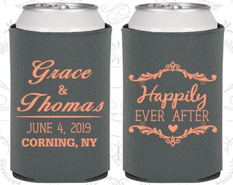 Charcoal Wedding, Charcoal Can Coolers, Charcoal Wedding Favors, Charcoal Wedding Gift, Charcoal Party Favors (478)