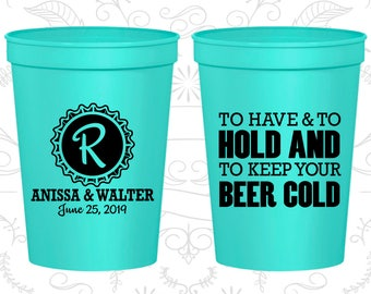 To Have and To Hold Cups, Custom Beer Cups, Monogram Wedding Cups, Monogrammed Cups, Wedding Cups (52)