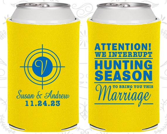 We Interrupt Hunting Season to Bring You This Marriage Wedding Shot Glasses Hunting Wedding Favors for Guests Plastic Shot Glasses
