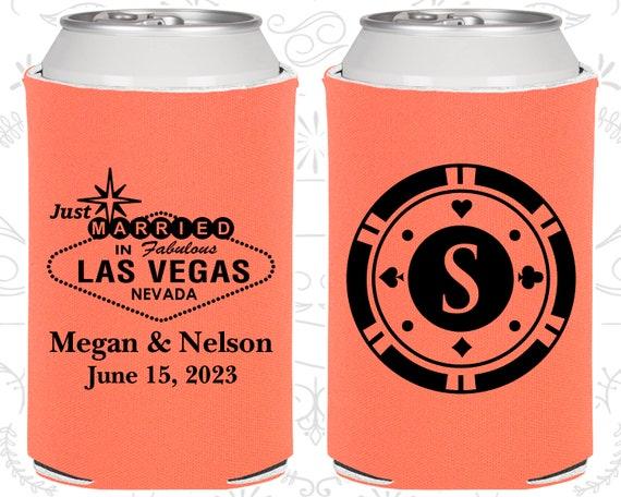 Vegas Wedding Favors Wedding Decor Just Married Gifts Monogrammed