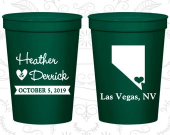 Nevada Wedding Cups, Nevada Wedding, Promotional Beer Cups, Destination Wedding, State Cups, Wedding Cups (127)