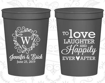 Charcoal Gray Stadium Cups, Charcoal Gray Cups, Charcoal Gray Party Cups, Charcoal Wedding Cups (61)