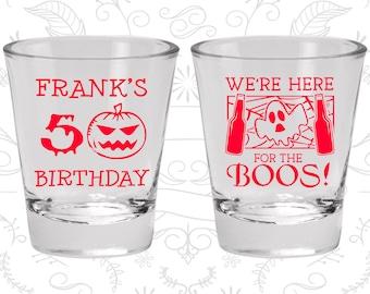 50th Birthday, Pumpkin Birthday, Halloween Birthday, Ghost Birthday, Birthday Glasses (20292)