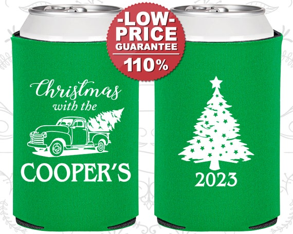Custom Christmas Can Coolers Custom Coolie Favors Custom X-Mas Coolies Christmas Coolies 22 Custom Christmas Party Can Cooler Favors