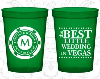 Las Vegas Cups, Promotional Beer Cups, The Best Little Wedding in Vegas, Monogram Poker Chip, Wedding Cups (57)