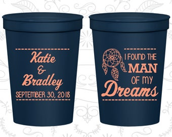 I found the man of my dreams, Beer Cups, Dream Catcher Wedding Cups, Wedding Cups (260)