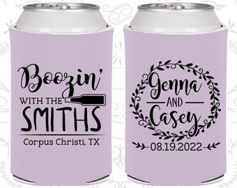Lilac Wedding, Lilac Can Coolers, Lilac Wedding Favors, Lilac Wedding Gift, Lilac Party Decor (546)