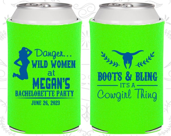 buy online 72fe7 b48fe Boots and Bling, Bachelorette Can Cooler, It's a cowgirl ...