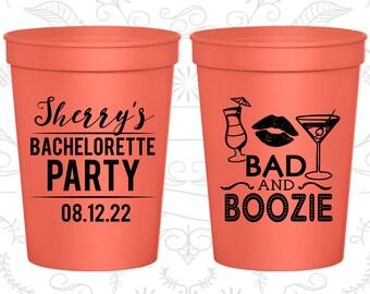 Bachelorette Party Cups, Custom Bachelorette Cups, Bachelorette Plastic Cups, Bachelorette Stadium Cups, Bachelorette Party Favors (C60156)