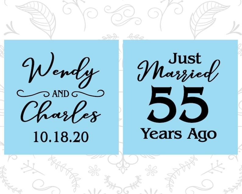 Parents Anniversary 80028 55th Wedding Anniversary Party Favors Anniversary Decor Emerald Anniversary Favors Anniversary Frosted Cups