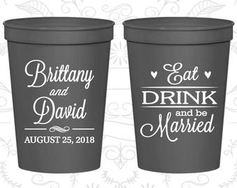 Charcoal Stadium Cups, Charcoal Cups, Charcoal Party Cups, Charcoal Wedding Cups (30)