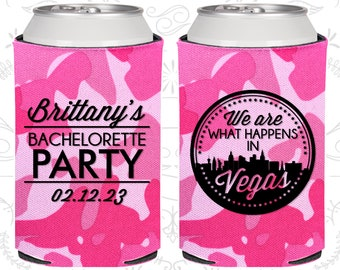 We are what happens in vegas, Bachelorette Can Coolers, Las Vegas Bachelorette Party Can Cooler, Bachelorette Cooler (C60190)