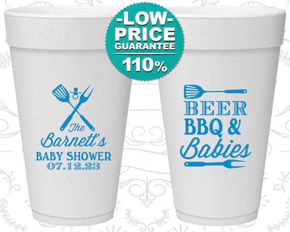 BBQ Baby Shower, Styrofoam Cups Baby Shower, barbecue Baby