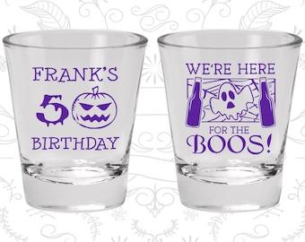 50th Birthday Shot Glass, Pumpkin Birthday, Halloween Birthday, Ghost Birthday, Birthday Shot Glass, Birthday Glass (20292)