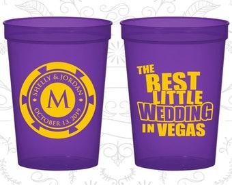 Las Vegas Cups, Wedding Beer Cups, The Best Little Wedding in Vegas, Monogram Poker Chip, Wedding Cups (58)