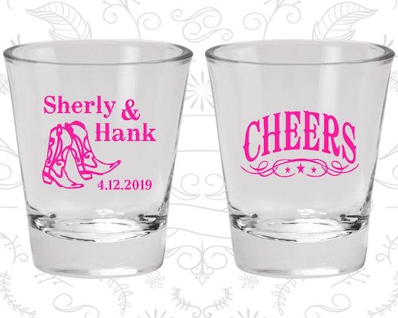 Cheers Shot Glasses, Cheap Shot Glass, Country Wedding Shot Glasses, Cowboy Boots, Wedding Shot Glasses (11)