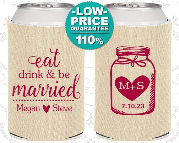 Personalized Wedding Favors Wedding Favors Custom Can Cooler