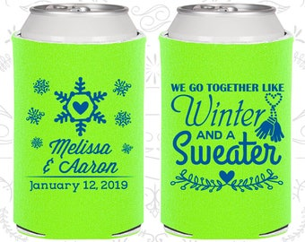Lime Green Wedding, Lime Green Can Coolers, Lime Green Wedding Favors, Lime Green Wedding Gift, Lime Green Party Favors (499)
