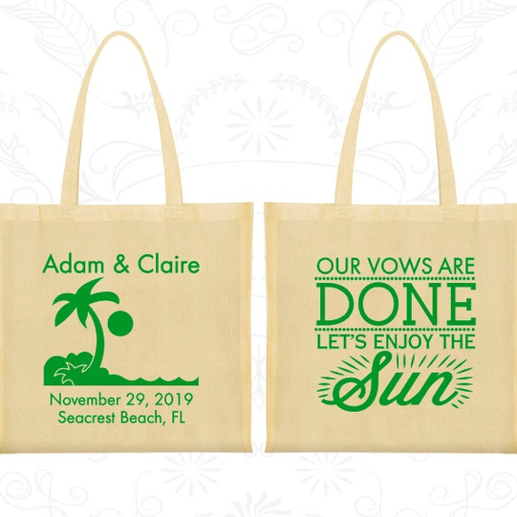 canvas tote bags palm tree cheap tote bags wedding favors etsy