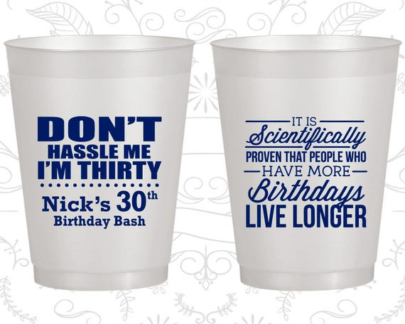 Birthday Bash 20182 Personalized 30th Birthday Party Favor Cups Custom Cup