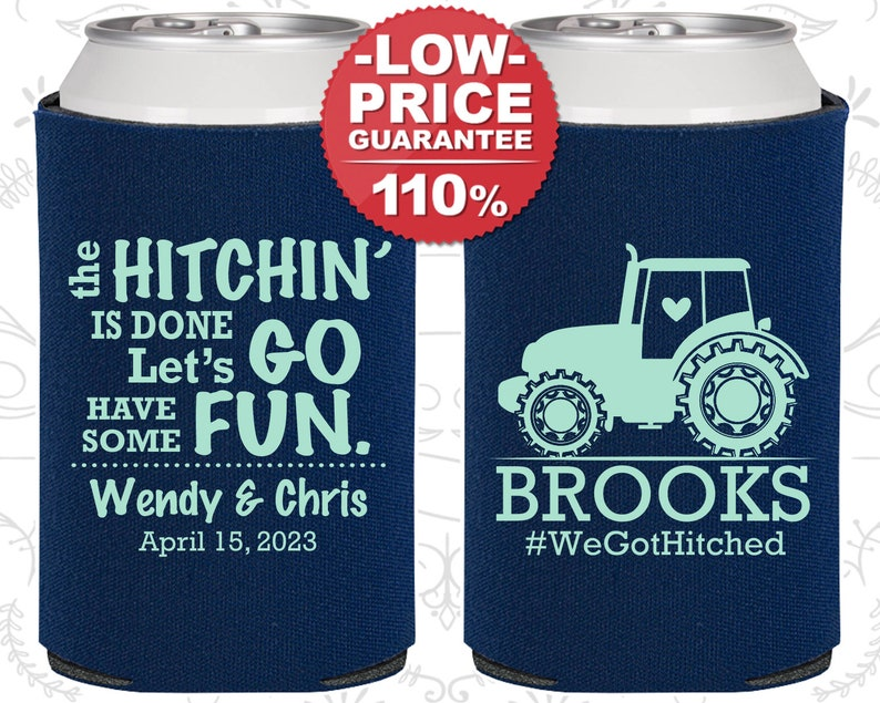 Farm Wedding Favors Country Wedding Favors C548 Wedding Decoration Tractor Wedding Favors Wedding Can Coolers Rustic Wedding Favors
