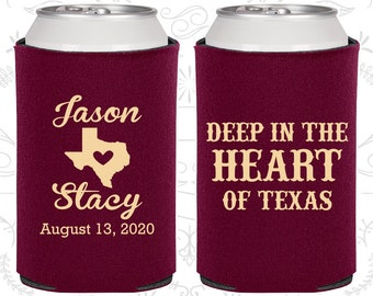 Deep in the Heart of Texas, Wedding Giveaways, Texas Wedding, Texas Gifts, Wedding Can Coolers (214)