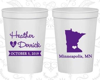 Minnesota Wedding Cups, Minnesota Wedding, Custom Beer Cups, Destination Wedding, State Cups, Wedding Cups (122)