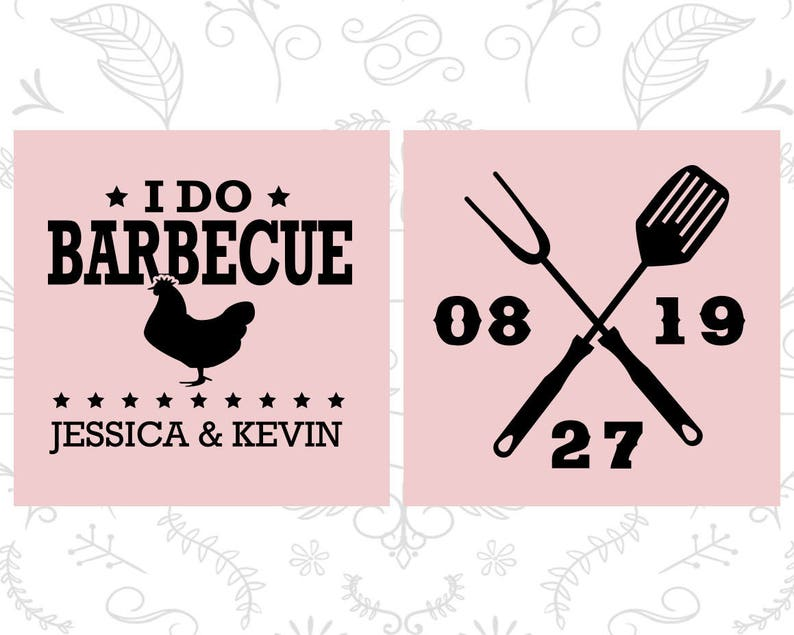 I Do BBQ Wedding Wedding BBQ I Do Barbecue Wedding BBQ Chicken 72 Custom Frosted Glasses Frosted Shot Glass