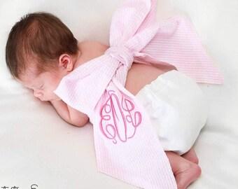 BABY /& TODDLER customized with baby\u2019s name Baby Girl MONOGRAM Headband Bow