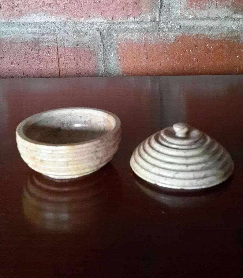 Tiny stone box  \u0130nlaid stone box for jewelleryMini stone box round