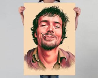 Damien Rice Art Print Musician Portrait Art Poster Wall Art