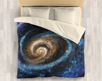 Galaxy Bedding Set | Stars and Space Comforter or Duvet Cover Set | Night Sky Duvet Cover | Galaxy Painting Comforter