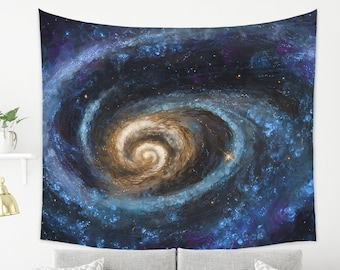 Galaxy Wall Art Tapestry Colorful Galaxy Painting on Wall Hanging