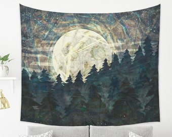Abstract Moon Child Tapestry Grunge Wall Hanging Boho Home Decor
