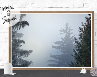 Mystic Fog Forest Print Large Photography Wall Art Printed on Paper