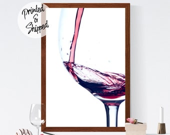 Wine Wall Art | Red Wine Art Print Wall Decor | Wine Print for Wine Lover | Wine Photography Kitchen Art Print for Wine Enthusiasts